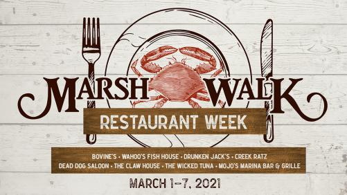 MarshWalk Restaurant Week, March 1-7, 2021, Visit Myrtle Beach, Sc