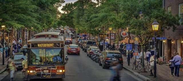 Free King Street Trolley   Visit Alexandria Dc Trolley Map on