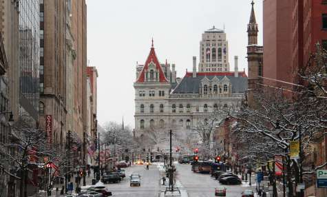 Winter Downtown Albany