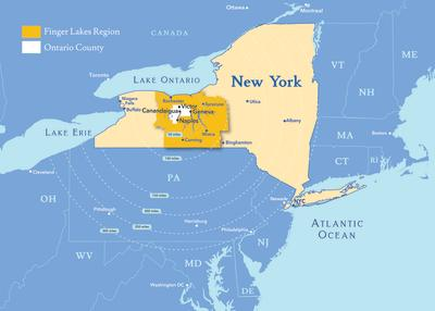 Locator map of New York State and the Finger Lakes
