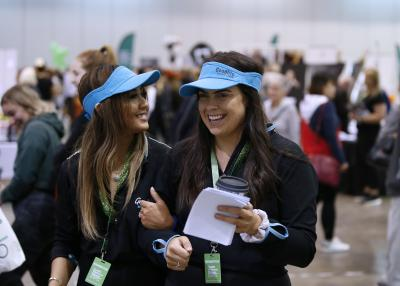 Delegates at the Health, Wellness & Fitness Expo at the Perth Convention and Exhibition Centre