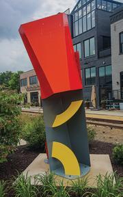 Prism Arc Yellow Quadrant sculpture
