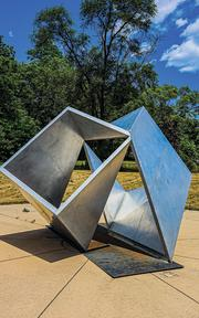 Two Cubes sculpture