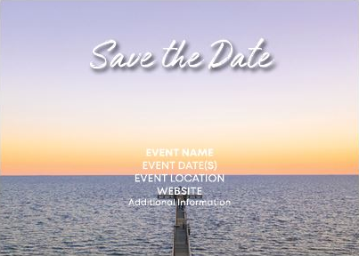 Save the Date Coastal Sunset