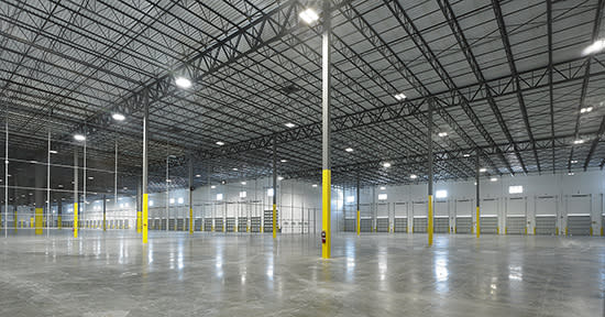 The interior of the International Logistics Center at Port Everglades.