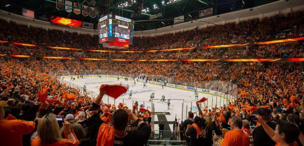 Anaheim Ducks Fans at Honda Center