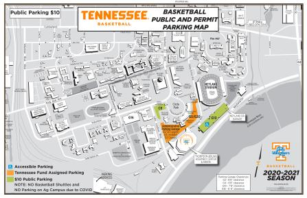 2020-2021 Women's Basketball Parking