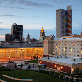 Downtown Fort Wayne Skyline at Night