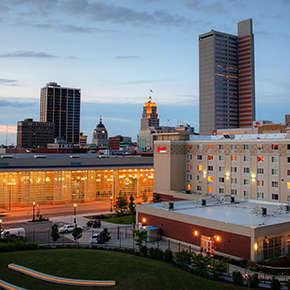 Downtown Fort Wayne Skyline at Night