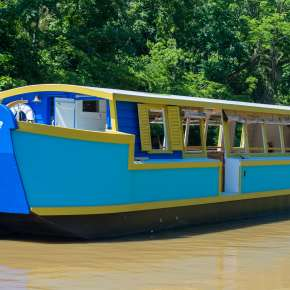 The Sweet Breeze Canal boat is named after Chief Little Turtle's daughter.