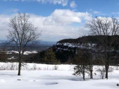 John Boyd Thacher Park in winter