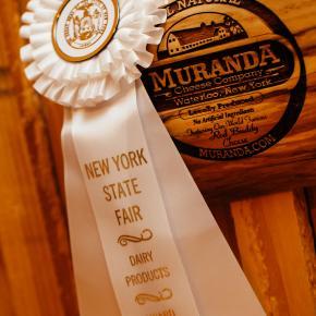 NYS Fair Award Ribbon for Muranda Cheese