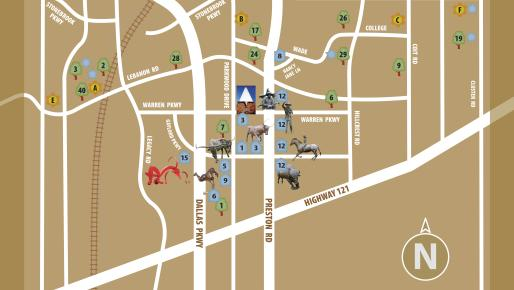 Frisco Art Trail - Map
