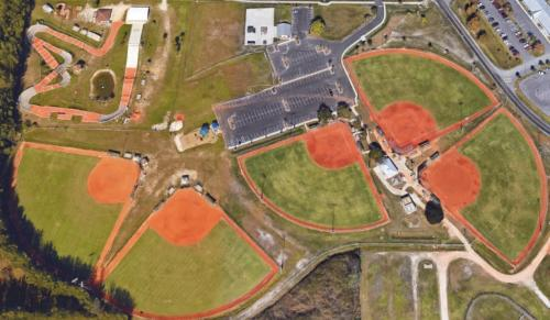 Aerial View of Carmalita Park Softball Fields
