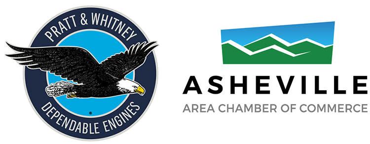 Asheville Chamber and Pratt Whitney logos