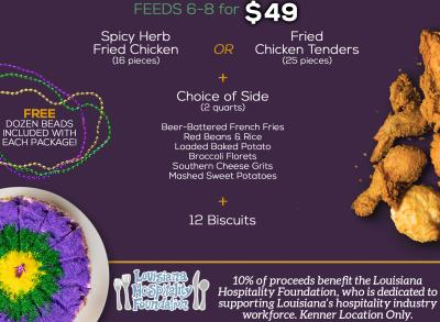 Copeland's Mardi Gras Packages