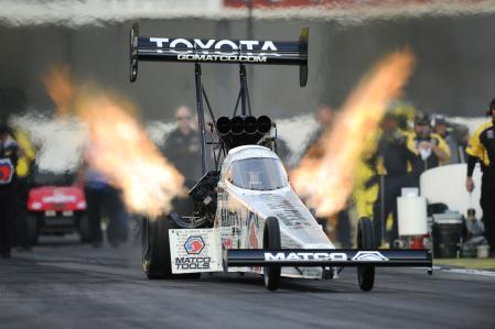 Antron Brown at Lucas Oil Raceway for NHRA U.S. Nationals