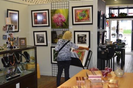 Shopper at Gallery on the Square