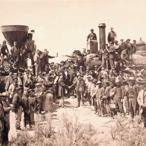 "Experience the ""Meeting of the Rails"" in Historic Photos at UMFA"