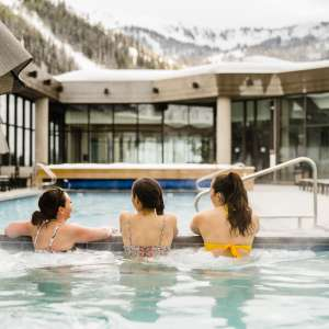 Rooftop Pool at Snowbird's Cliff Lodge