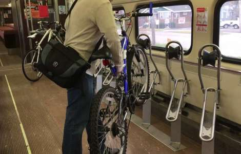 Bikes on South Shore Line