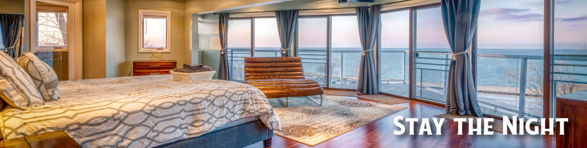 Miller Beach Vacation Rental with a beautiful panoramic view of the lake