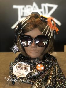 Halloween accessories (sunglasses, scarf, hair clips, etc) from Threadz