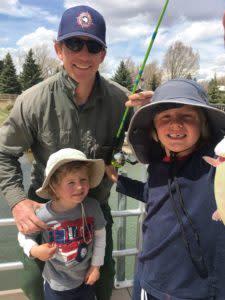 Fishing at Huck Finn Pond