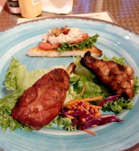 A BBQ Sampling at SandBar Tiki & Grille