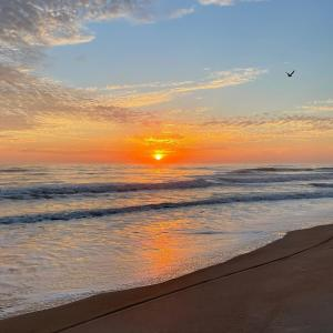 Sunrise on the beach in Daytona Beach, Florida
