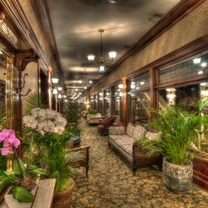 Interior view of the General Palmer hotel