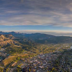 Downtown Durango, Colorado from the Air