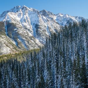 Twilight Peak in Winter, Durango, CO