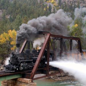 Durango Train Near Needleton, Durango, CO