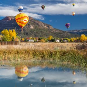 Animas Balloon Rally During Fall, Durango, CO
