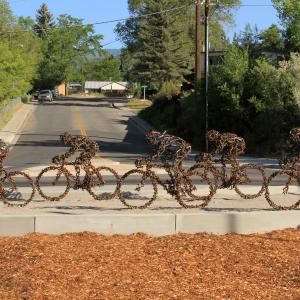 Endurance bike sculpture