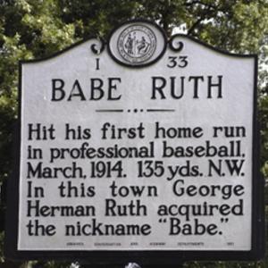 Babe Ruth Historic Marker