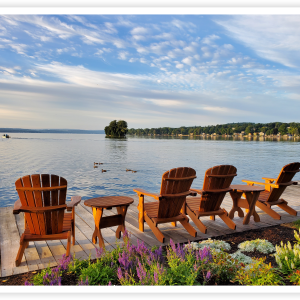Adirondack Chairs overlooking Canandaigua Lake
