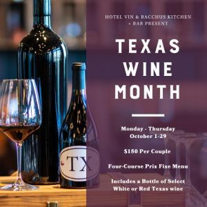 Bacchus Kitchen + Bar Texas Wine Month
