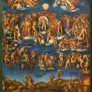 Marcello Venusti, según Miguel Ángel, Juicio FInal, 1549, Museo e Real Bosco di Capodimonte, Naples