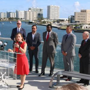 Federal, state and local elected officials joined local business leaders today (Feb.18) to welcome the news that Broward County's long-awaited Port Everglades Navigation Improvements Project to deepen and widen the Port's navigational channels can now begin with $29.1 million in funding under the U.S. Army Corps of Engineers FY 2020 Work Plan