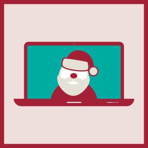 virtual santa visits graphic