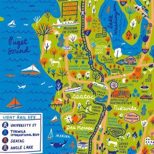 Seattle Southside Scenes Map