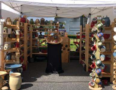 Artsfest Pottery Booth