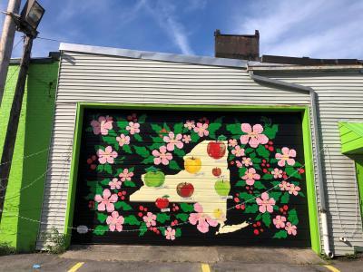 Nine Pin Cider Mural