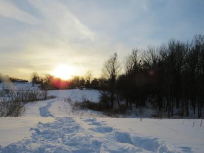 Snowshoe hike at Sterling Nature Center