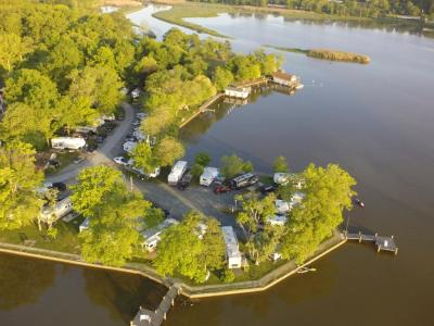 Aerial View of Bar Harbor RV Park on the Bush River