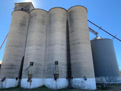 Silos at Flour Mill in east McKinney