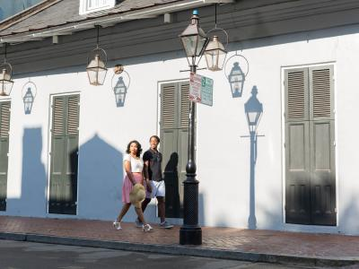 Couple Walking in French Quarter