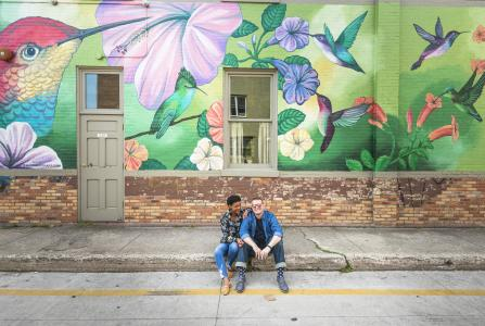 Hummingbird Mural in Downtown Traverse City